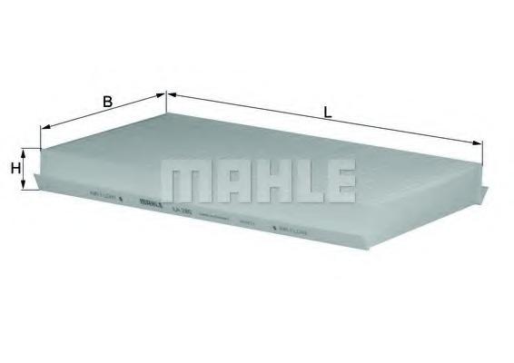 Фильтр, воздух во внутренном пространстве MAHLE/KNECHT LA280