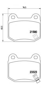 P56048 BREMBO Тормозные колодки