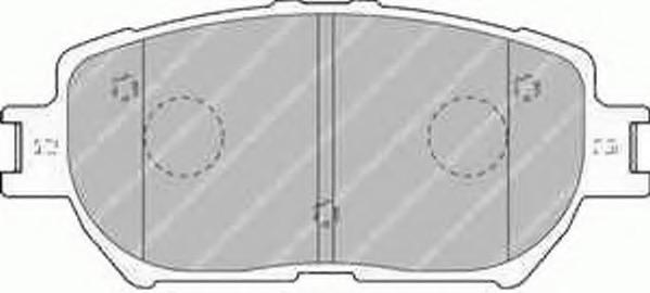 FDB1620 FERODO Комплект тормозных колодок, дисковый тормоз