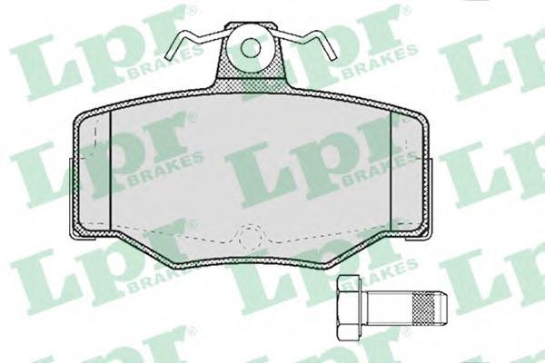 05P387 LPR Комплект тормозных колодок 05P387
