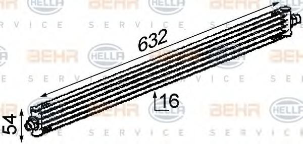 8MO376722311 HELLA Масляный радиатор, двигательное масло