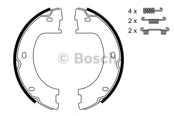 0986487751 BOSCH Комплект тормозных колодок, стояночная тормозная система
