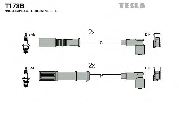 T178B TESLA Комплект проводов зажигания