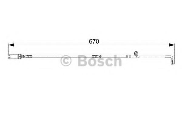1987473002 BOSCH Сигнализатор, износ тормозных колодок