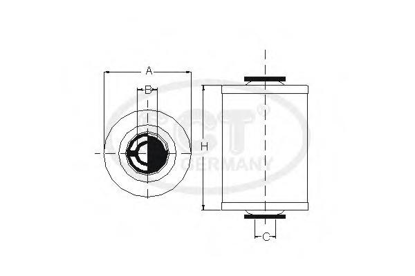 Топливный фильтр SCT SC7064P
