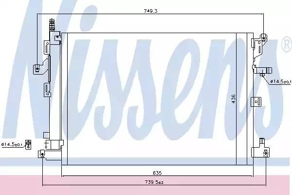 940089 NISSENS Радиатор кондиционера