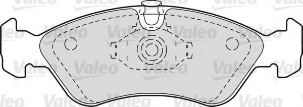 598184 VALEO Комплект тормозных колодок, дисковый тормоз