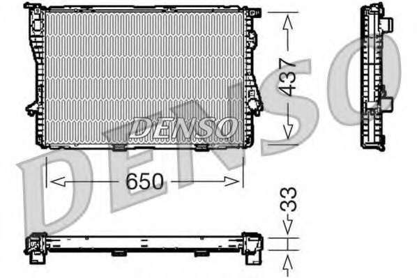 DRM05067 DENSO Радиатор