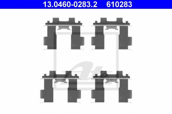 13046002832 ATE Комплектующие, колодки дискового тормоза