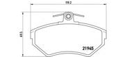 P85042 BREMBO Тормозные колодки