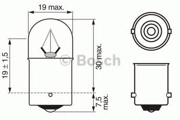 1987302506 BOSCH Лампа накаливания