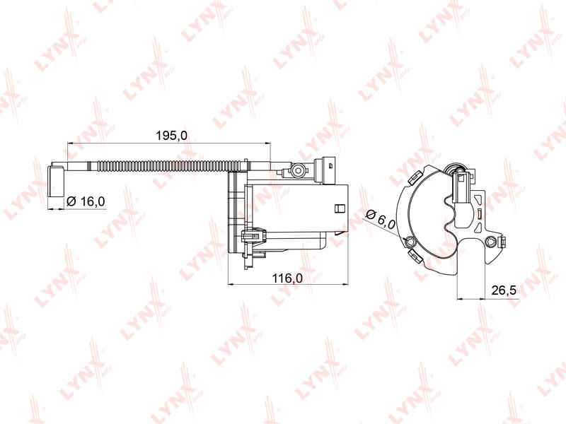 LF992M LYNX Фильтр топливный погружной