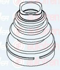 D8526 SEINSA AUTOFREN Комплект пылника, приводной вал