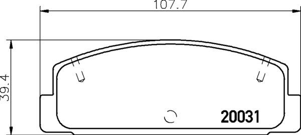 NP5004 NISSHINBO комплект колодок для дисковых тормозов