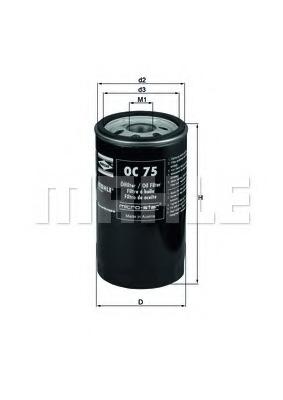 OC75 MAHLE Масляный фильтр