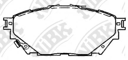 PN23001 NIBK Колодки тормозные дисковые