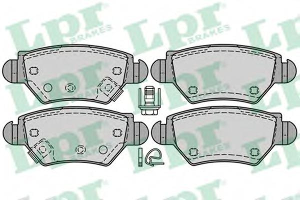 05P1227 LPR Комплект тормозных колодок, дисковый тормоз