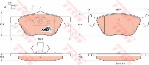 GDB1212 TRW/LUCAS Колодки тормозные дисковые передн