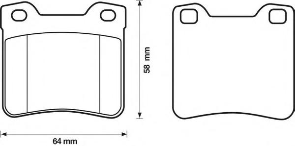 Комплект тормозных колодок, дисковый тормоз BENDIX 571899B