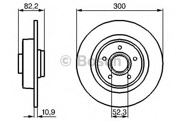 0986478971 BOSCH Тормозной диск