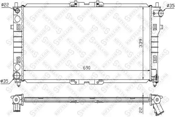 1025859SX STELLOX Радиатор